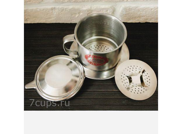 Пресс-фильтр (фин) для приготовления кофе по-вьетнамски 210 мл