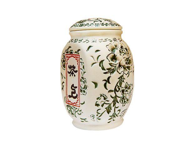 Чайница керамическая Пион цвет зеленый 550 мл