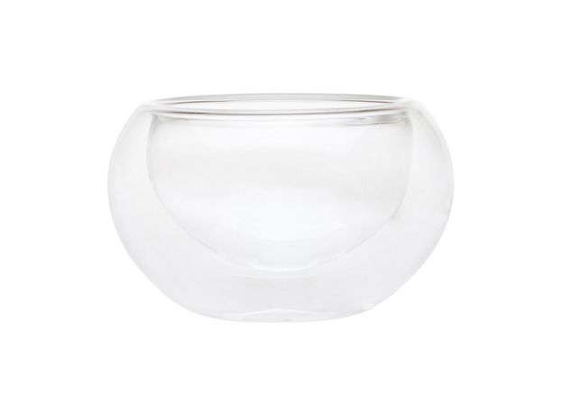 Пиала стеклянная необжигающая с двойными стенками 150 мл