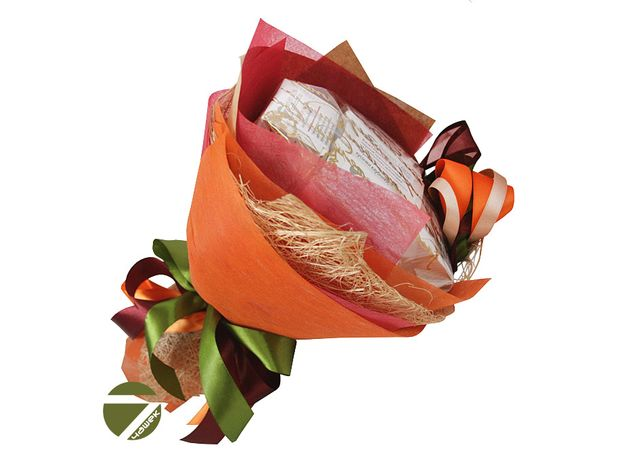 Букет из чая - Осенний цветок - Подарочный набор чайный букет