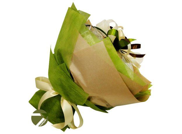 Букет из чая - Амарант зеленый - Подарочный набор чайный букет