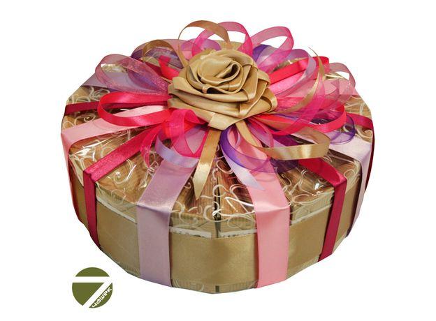 Торт Сливочный бисквит - Подарочный набор из чая и кофе