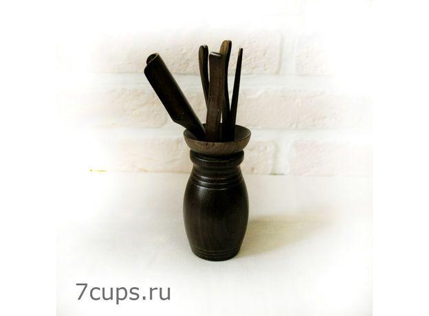 Инструменты для чайной церемонии Дао мини (черные)