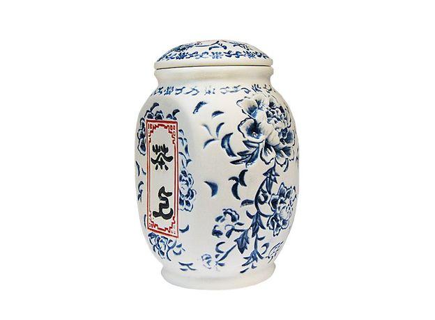 Чайница керамическая Пион цвет синий 550 мл