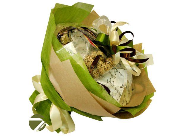 Букет из чая - Амарант зеленый - Подарочный набор чайный букет, изображение 2