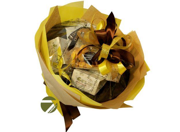 Букет из чая - Амарант желтый - Подарочный набор чайный букет, изображение 2