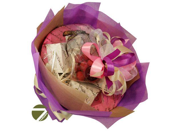 Букет из чая - Амарант сиреневый - Подарочный набор чайный букет, изображение 2