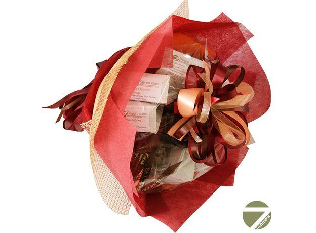 Букет из кофе - Пион - Подарочный набор кофейный букет, изображение 2