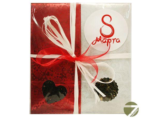 Подарочный чайный набор - Красное Восьмое марта №2