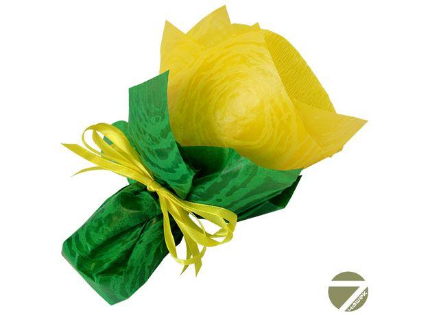 Букет из чая - Незабудка желтая - Подарочный набор чайный букет