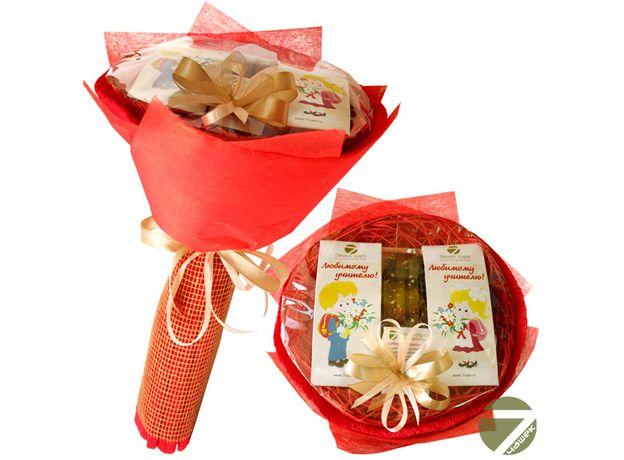 Букет из чая - Любимому учителю - Подарочный набор чайный букет