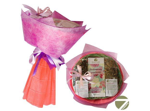 Букет из чая - Любимому учителю с благодарностью - Подарочный набор чайный букет