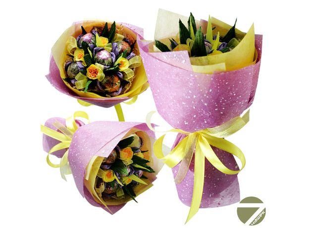 Букет из чая - Цветочная поляна - Подарочный набор чайный букет