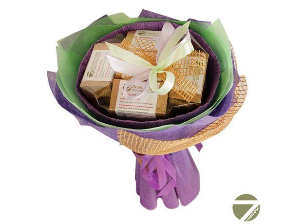 Букет из чая - Ирис - Подарочный набор чайный букет, изображение 2