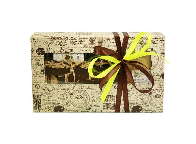 Коробка с окошком Кофейное созвездие - Подарочный набор из кофе и сладостей