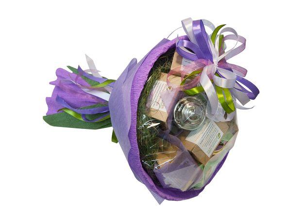 Букет из чая и кофе - Орхидея - Чайно-кофейный букет - Подарочный набор, изображение 2