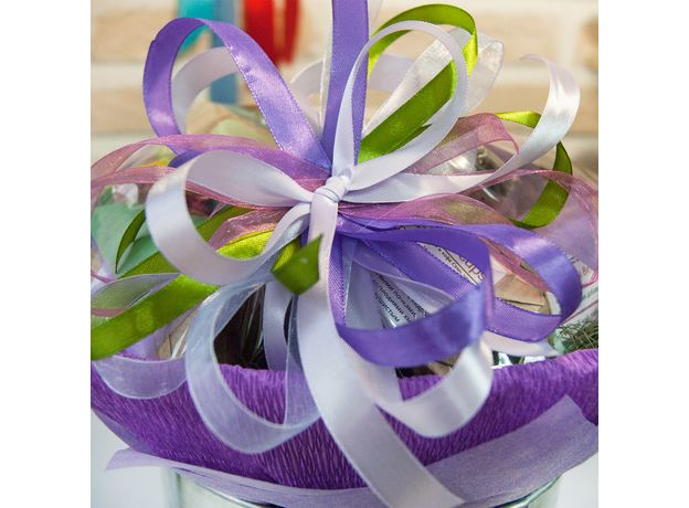 Букет из чая и кофе - Орхидея - Чайно-кофейный букет - Подарочный набор, изображение 4
