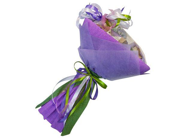 Букет из чая и кофе - Орхидея - Чайно-кофейный букет - Подарочный набор