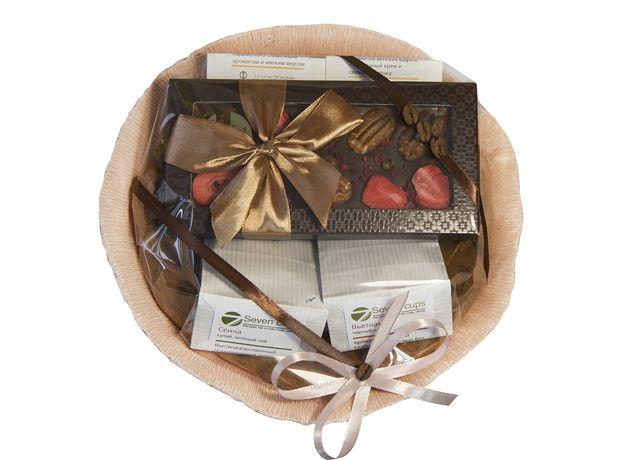 Букет из чая и кофе - Гладиолус - Подарочный набор чайно-кофейный букет, изображение 2
