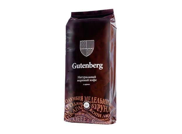 Вьетнам Робуста, Gutenberg 1 кг - Кофе в зернах, medium roast