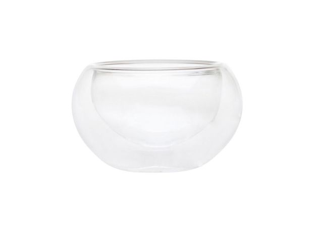 Пиала стеклянная необжигающая с двойными стенками 100 мл