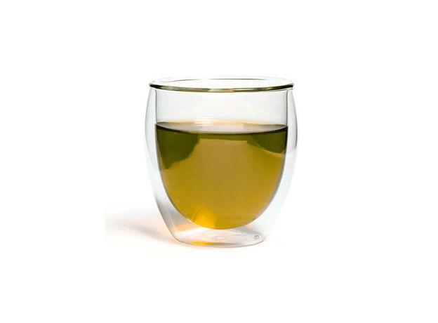 Чашка-стакан необжигающая с двойными стенками Киото 100 мл из жаропрочного стекла