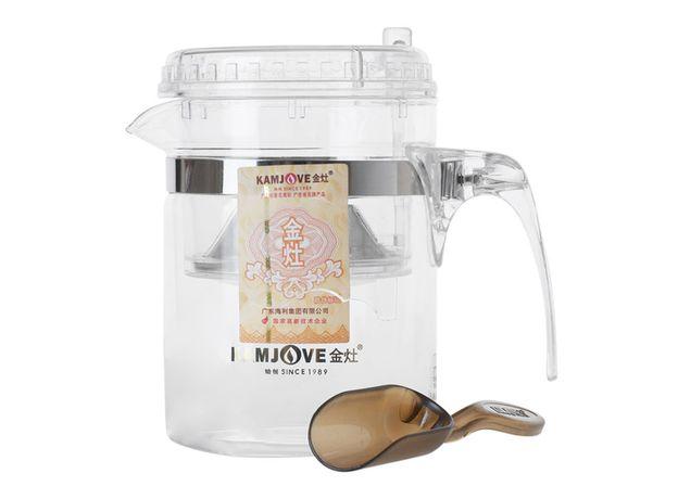 Чайник стеклянный заварочный с кнопкой Гунфу KAMJOVE (типот) 300 мл (TP-140)