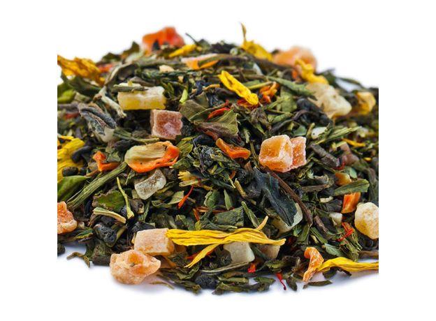 Бенгальский тигр 50 гр - Зеленый чай с фруктово-цветочными добавками