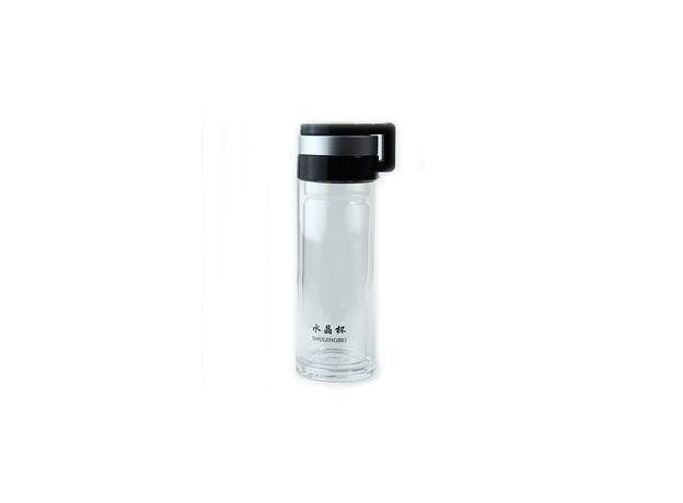 Бутылка из стекла для заваривания чая походная, 380 мл