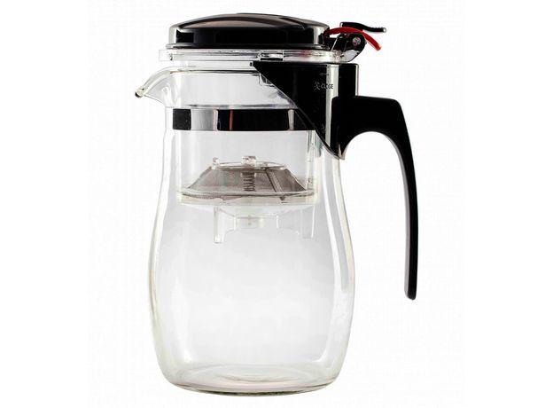 Чайник стеклянный заварочный с кнопкой Гунфу (типот) 950 мл