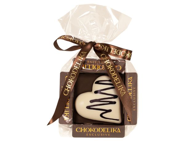 Шоколад белый Ванильное сердце Chokodelika , 30 гр
