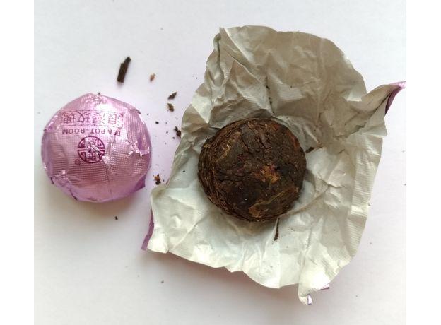 Прессованный Шу Пуэр Мини То Ча с розой 50 гр, изображение 2