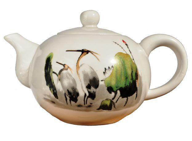 Чайник фарфоровый Журавли 170 мл, изображение 2
