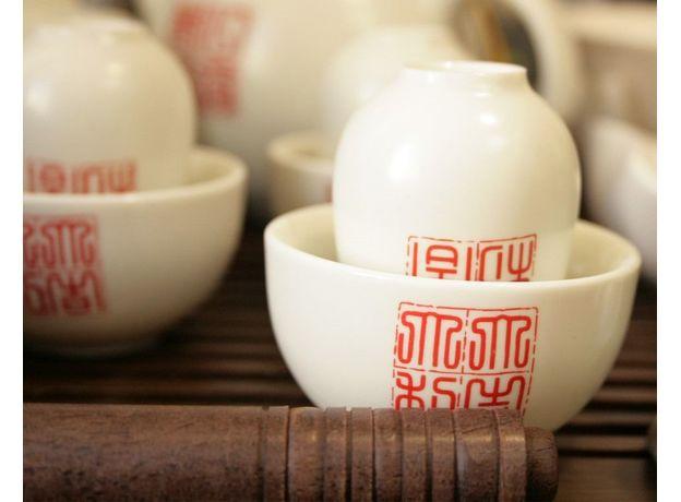 Большой набор посуды для чайной церемонии, изображение 3