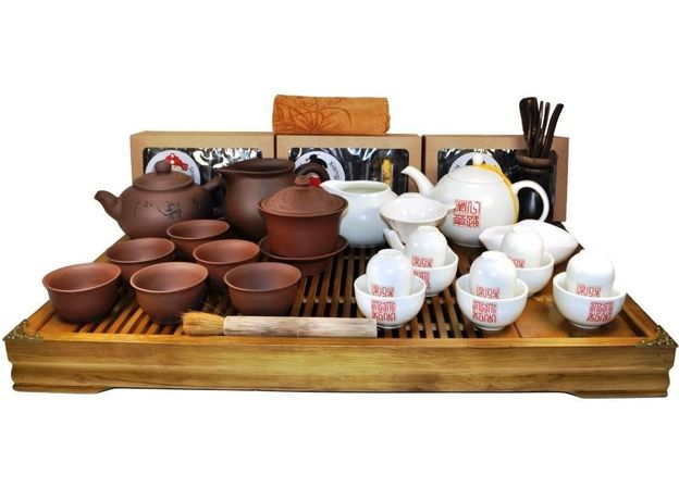 Большой набор посуды для чайной церемонии