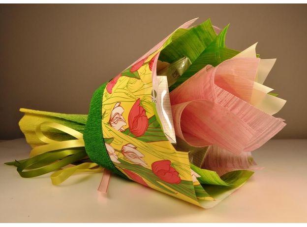 Букет из чая - Солнечный тюльпан - Подарочный набор чайный букет, изображение 2