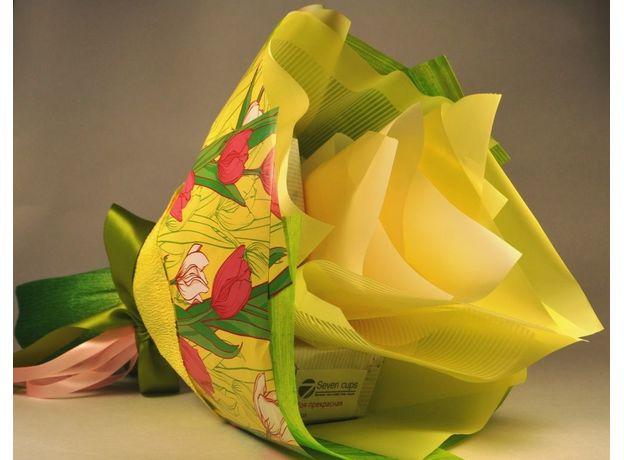 Букет из чая - Солнечный тюльпан - Подарочный набор чайный букет, изображение 3