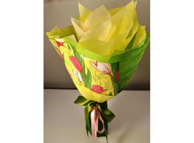 Букет из чая - Солнечный тюльпан - Подарочный набор чайный букет