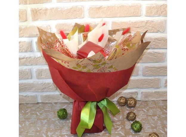 Букет из чая и кофе - Калина красная - Подарочный набор чайно-кофейный букет, изображение 2