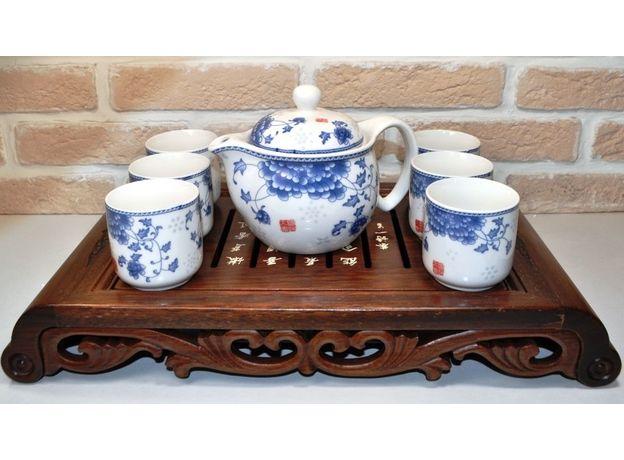 Голубая хризантема - Набор посуды для чайной церемонии