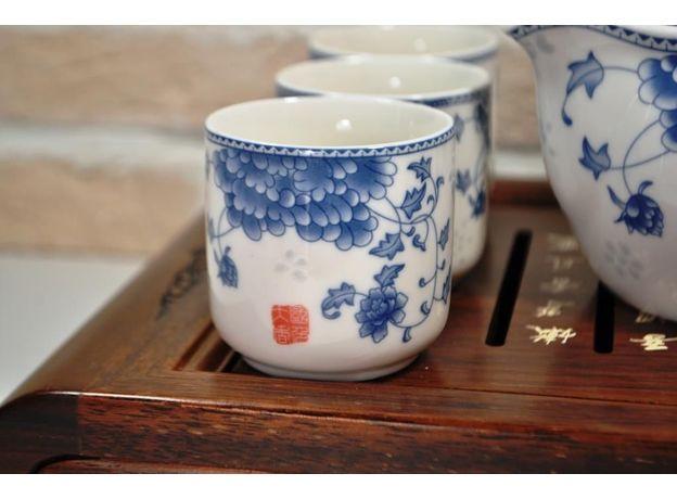 Голубая хризантема - Набор посуды для чайной церемонии, изображение 5