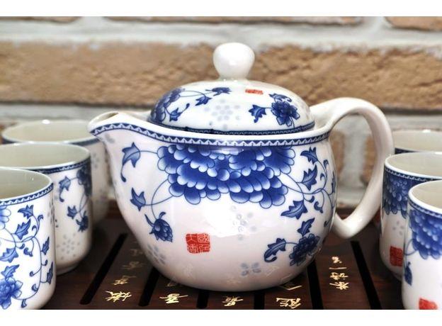 Голубая хризантема - Набор посуды для чайной церемонии, изображение 3
