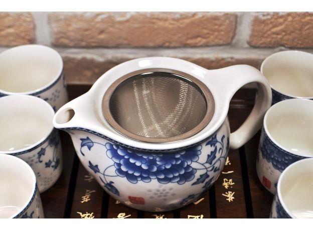 Голубая хризантема - Набор посуды для чайной церемонии, изображение 4