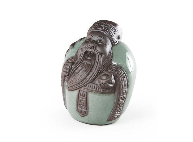 Игрушка для чайной церемонии Бог счастья Кубера -  глина, эмаль