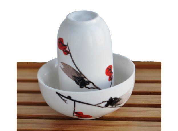 Чайная пара фарфоровая Сакура - пиала и стаканчик, изображение 2