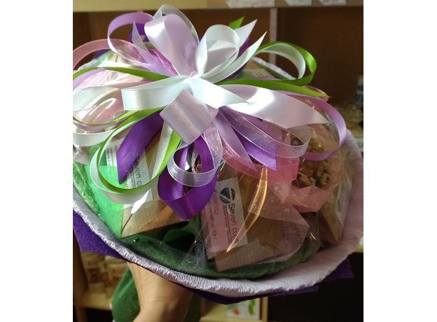 Букет из чая и кофе - Орхидея - Чайно-кофейный букет - Подарочный набор, изображение 5
