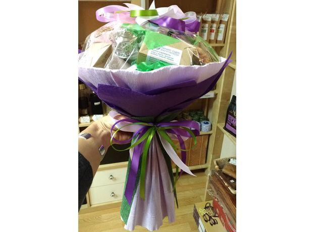 Букет из чая и кофе - Орхидея - Чайно-кофейный букет - Подарочный набор, изображение 6