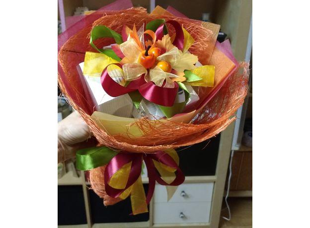 Букет из чая - Осенний цветок - Подарочный набор чайный букет, изображение 3