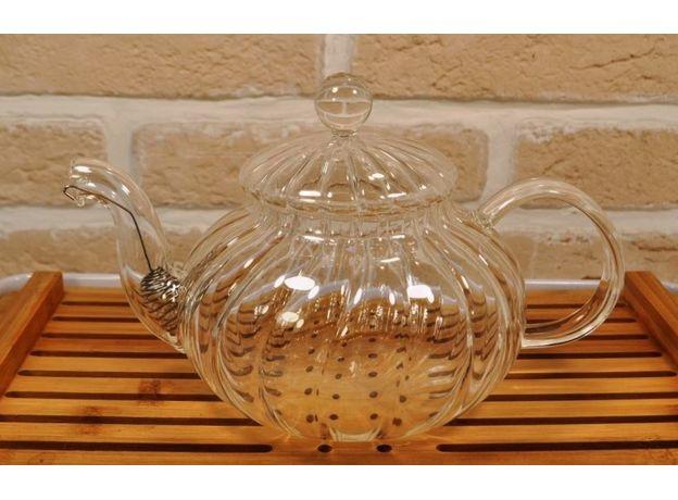 Чайник стеклянный Колеус с ситом 600 мл