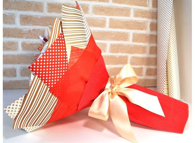 Букет из чая и кофе - Розовый куст  - Подарочный набор чайно-кофейный букет, изображение 4